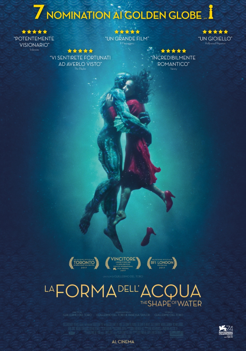 La Forma dell'acqua - The Shape of Water un tuffo romantico in un mondo alienante